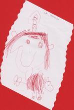 A vegades em faig una trena, i així em va retratar en Guillem, el meu fill.